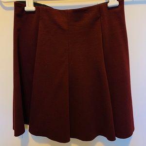 plain maroon brandy Melville skater skirt!